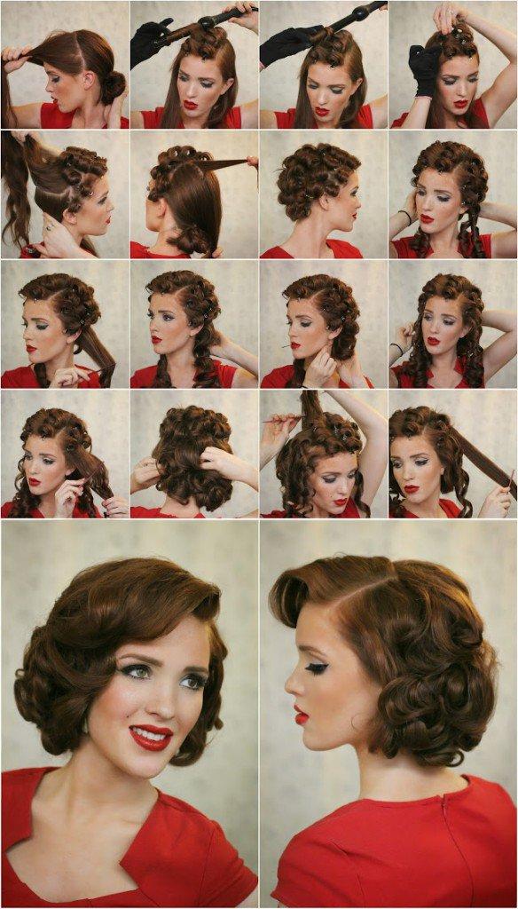 Vak Dalgalı Retro Saç Modelleri