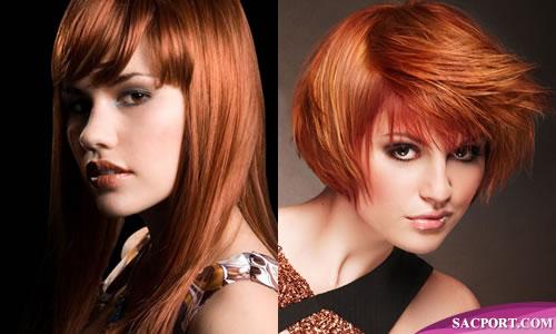 Kısa Saçlı Bakır Saç Rengi