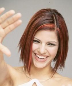 Kızıl Katlı Kısa Saç Modelleri
