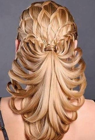 Gösterişli örgü saç modelleri