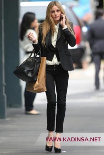 Ofis çalışanı bayanlar için skinny jean kombinleri