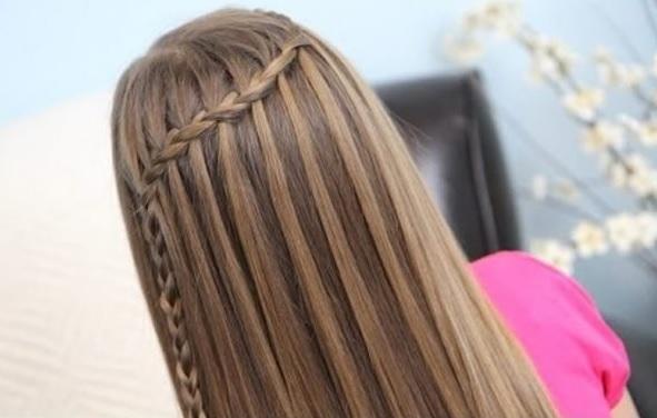 Şelale örgü saç modelleri