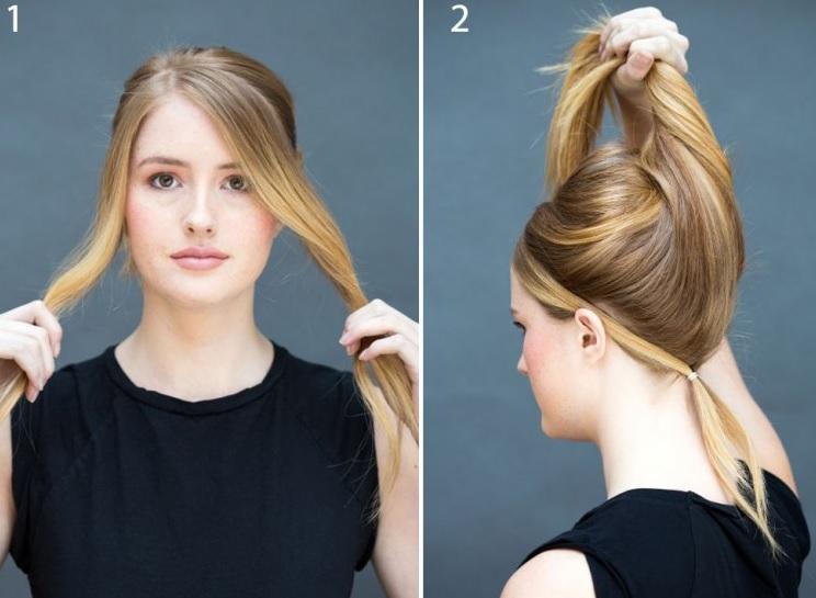 2 adımda pratik saç tarifi