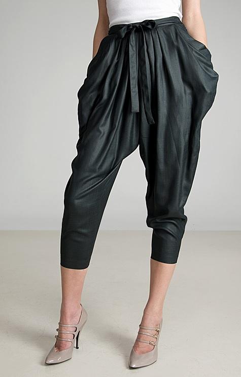 Fiyonklu şalvar pantolon