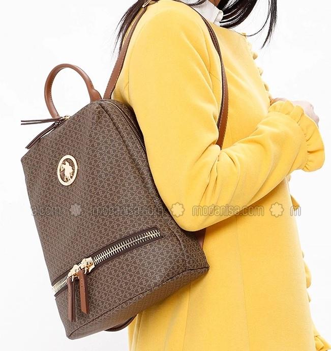 Modanisa kahverengi bayan çanta modeli