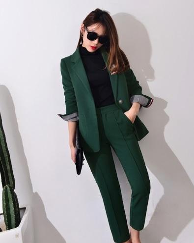 Zeytin yeşili alibaba bayan takım elbise
