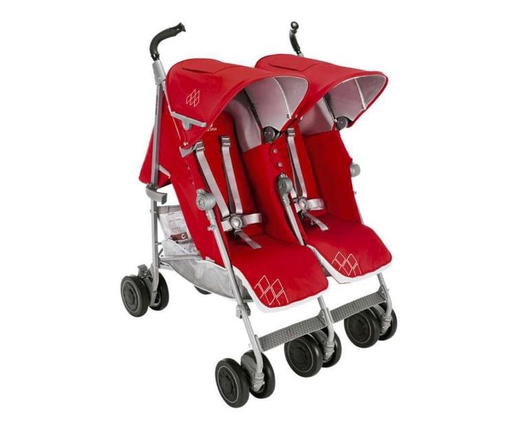 Twin techno kırmızı ikiz bebek arabası