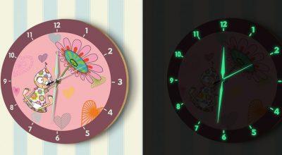 Hayvan Karakterli ve Resimli Çocuk Odası Duvar Saatleri
