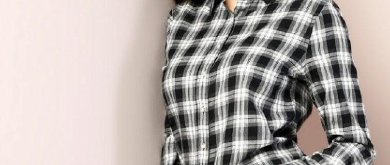 Colins Uzun Kollu Antrasit Gömlek Modelleri Bayanlar İçin