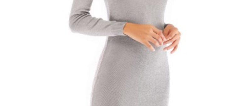 Bayan Uzun Örgü Elbise Modelleri