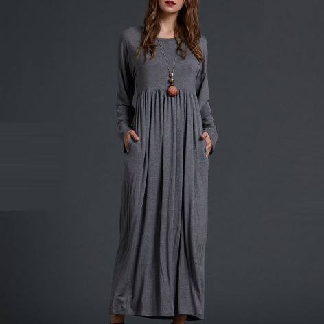 Uzun Rahat Örgü Elbise Modeli